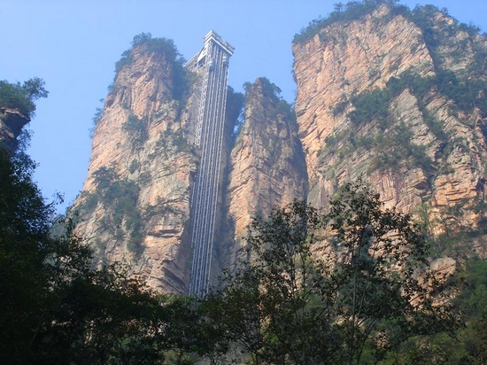 bailong elevator china travel views The Elevator of One Hundred Dragons