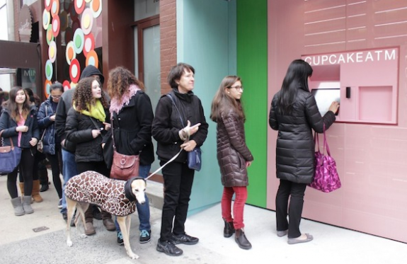 sprinkles cupcake atm nyc new york city 1 575x373 Go Forth and Multiply, Cupcake ATM