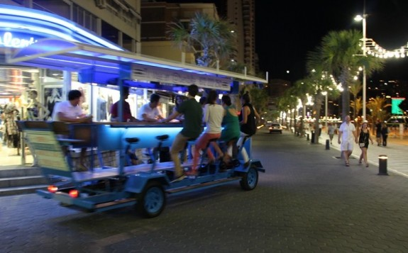 benibike benidorm holiday travel 2 575x357 The Benidorm Beer Bike Tour
