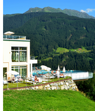 austria luxury hotel view review The Best View from a Hotel Room in the Austrian Alps